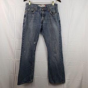 Levi's womens 29x30 distressed low boot cut jean